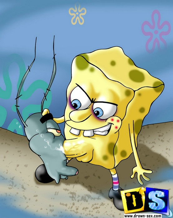 Cartoon sex. SpongeBob hunts pussy. - Picture 6