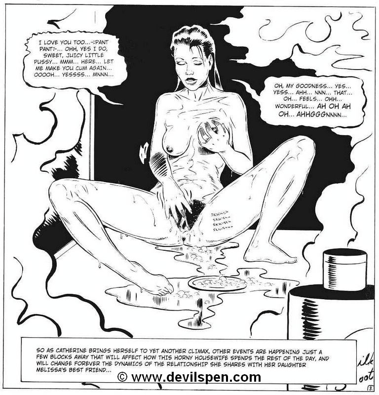 Toon sex comics. Woman gets tied up and toy fucked. - Picture 5