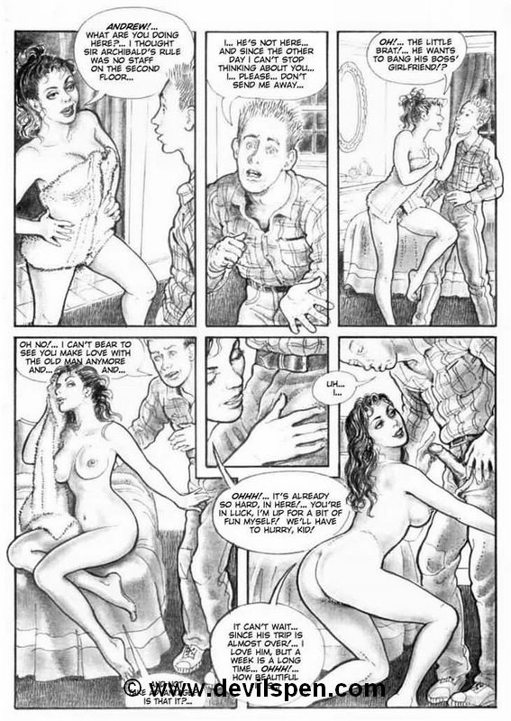 Bondage comics. Two young girls get - BDSM Art Collection - Pic 3