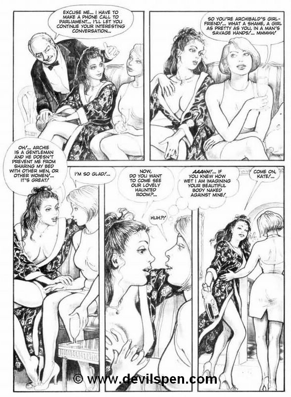 Bondage comics. Two young girls get - BDSM Art Collection - Pic 8