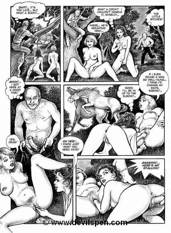 Bondage comics. Two young girls get - BDSM Art Collection - Pic 15