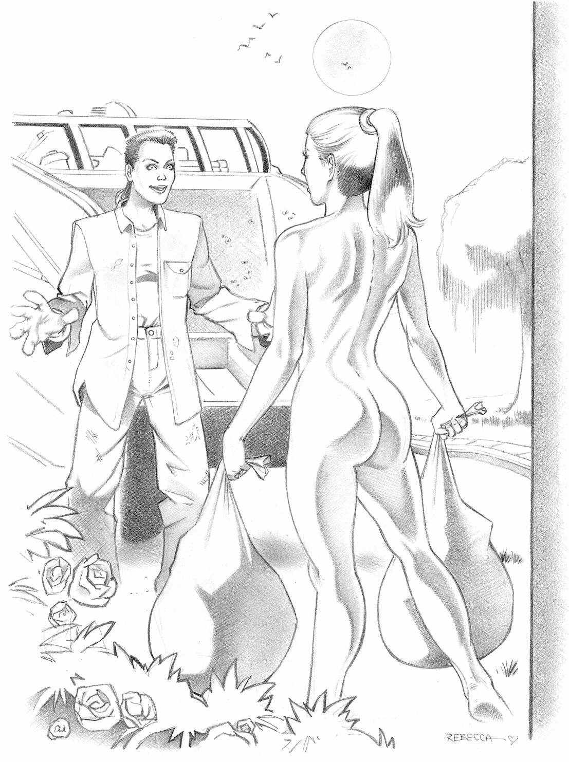Extreme Kinky Porn Drawings - Sex slave comics. Very kinky and bizarre drawings.
