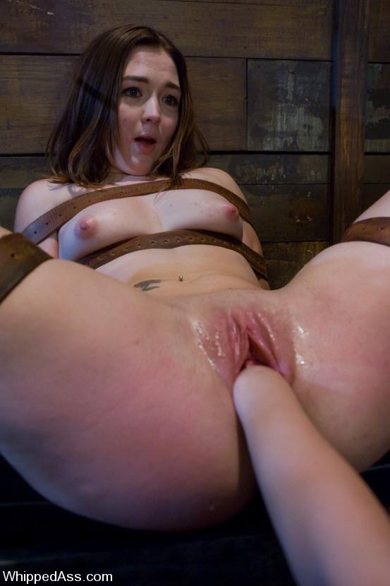 Sexual spanking. Lesbian BDSM with strapon - Unique Bondage - Pic 14