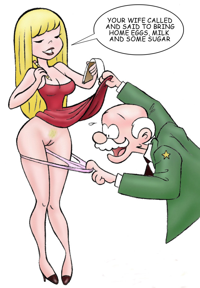Sex comics. Old man wants to - Cartoon Porn Pictures - Picture 3