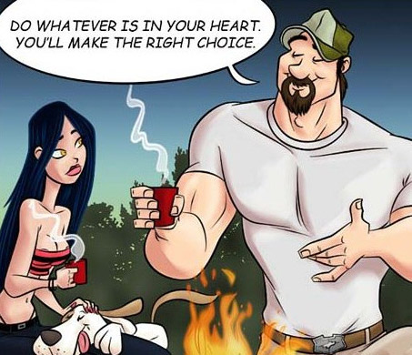 Adult cartoon comic. Girl flirts - Cartoon Porn Pictures - Picture 2