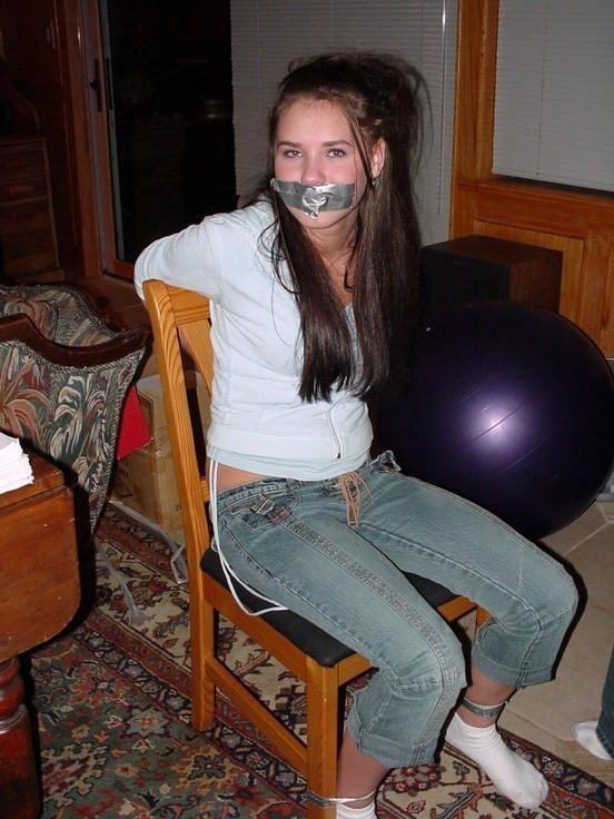 Petite restrained teens get humuliated and - Unique Bondage - Pic 1