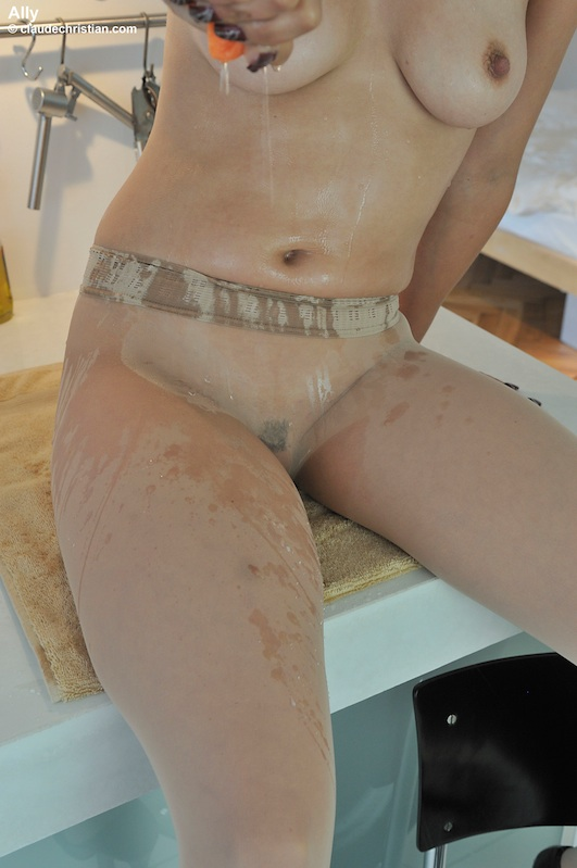 Small tits Ally in seamless nylons - Sexy Women in Lingerie - Picture 7