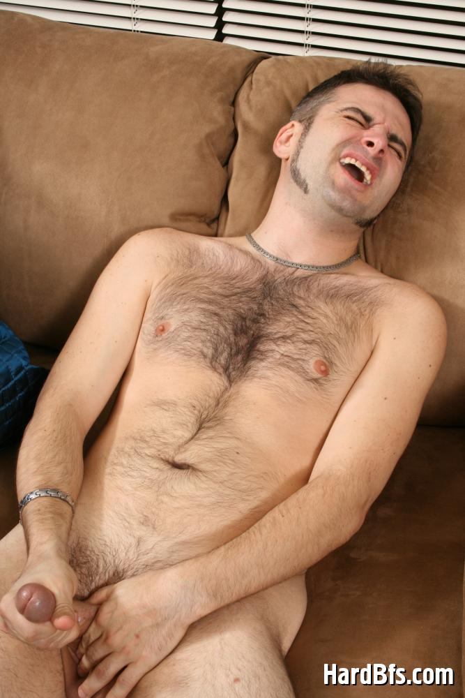 Hairy chest masturbate