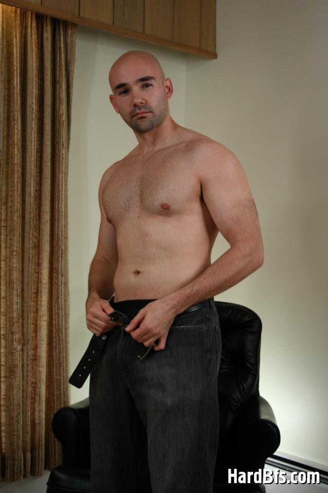 Horny muscular gays masturbating