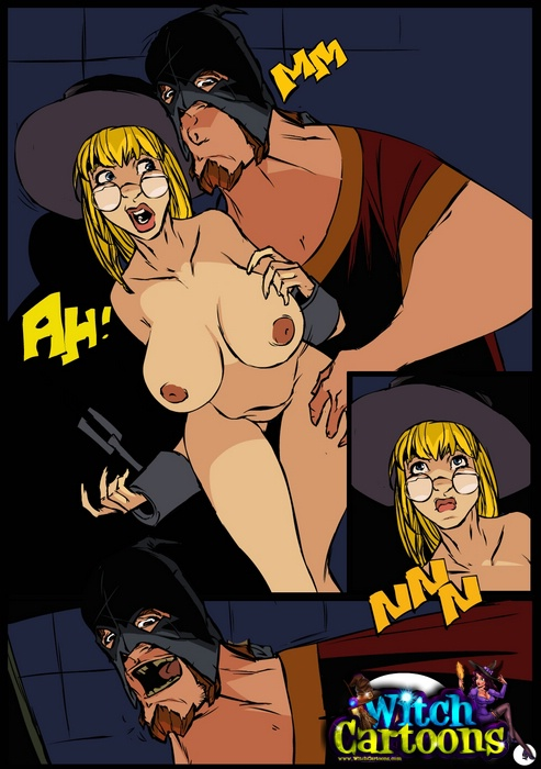 Cartoon sex. Anal punishment for a witch. - Picture 2
