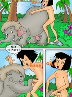 Toon porn comic. Mowgli's sex adventures.