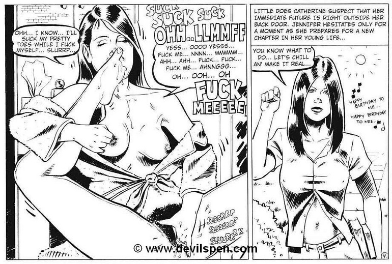 Toon sex comics. Woman gets tied up and toy fucked. - Picture 7