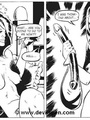 Toon sex comics. Woman gets tied up and - Picture 15