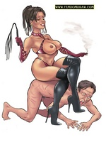Toon sex. Drawing arts of gorgeous dominant ladies - Picture 1
