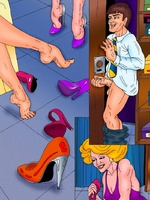 Porn comix. Witty comics with a shop assistant - Picture 6