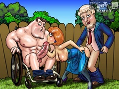 Toon porn comic. Family Guy's nymphos. - Picture 2