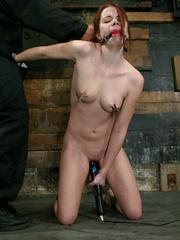 Xxx bdsm. Bound hottie gets caned, flogged, - Unique Bondage - Pic 1