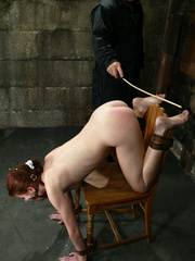 Xxx bdsm. Bound hottie gets caned, flogged, - Unique Bondage - Pic 2