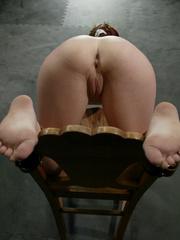 Xxx bdsm. Bound hottie gets caned, flogged, - Unique Bondage - Pic 3