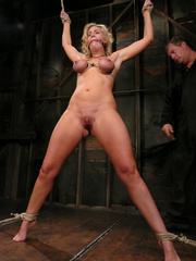 Slave porn. Hot MILF with HUGE nipples, gets - Unique Bondage - Pic 7