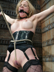 Bdsm xxx. Pretty lady tied up and forced to - Unique Bondage - Pic 7