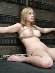 Bdsm xxx. Pretty lady tied up and forced to - Unique Bondage - Pic 11