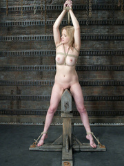 Bdsm xxx. Pretty lady tied up and forced to - Unique Bondage - Pic 15