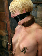 Bondage. Fit girl tied down and machine - Unique Bondage - Pic 3
