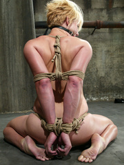 Bondage. Fit girl tied down and machine - Unique Bondage - Pic 7