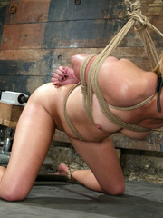 Bondage. Fit girl tied down and machine - Unique Bondage - Pic 9