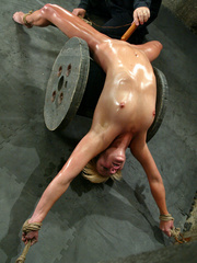 Bondage. Fit girl tied down and machine - Unique Bondage - Pic 10