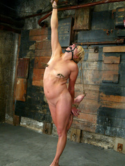 Bondage. Fit girl tied down and machine - Unique Bondage - Pic 11