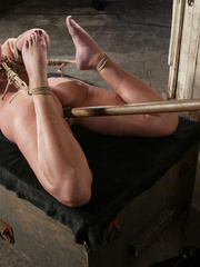 Bondage xxx. Voluptuous Christina bound, - Unique Bondage - Pic 12