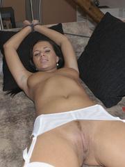 Bondage sex. Nataly tied in white nylons - - Unique Bondage - Pic 7