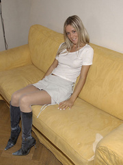 Bondage galleries. Girls in white stockings - Unique Bondage - Pic 4