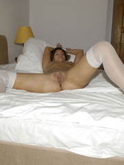 Bondage galleries. Girls in white stockings - Unique Bondage - Pic 19