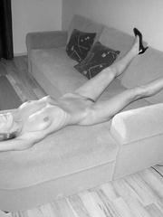 Nylon stockings. Jennifer in ripped open - Unique Bondage - Pic 1