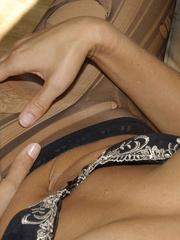 Nylon stockings. Jennifer in ripped open - Unique Bondage - Pic 9