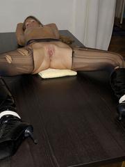 Nylon stockings. Jennifer in ripped open - Unique Bondage - Pic 15