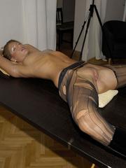 Nylon stockings. Jennifer in ripped open - Unique Bondage - Pic 17
