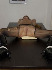 Nylon stockings. Jennifer in ripped open - Unique Bondage - Pic 20