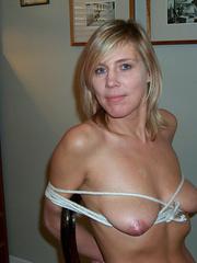 Nylon porn. Linda tied at home - 950 private - Unique Bondage - Pic 15