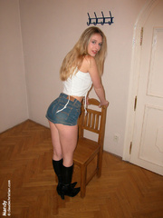 Xxx bdsm. Blonde with small tits tied. - Unique Bondage - Pic 9