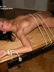 Bdsm xxx. Milli tied legs spread. - Unique Bondage - Pic 17