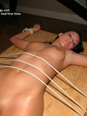 Bdsm xxx. Milli tied legs spread. - Unique Bondage - Pic 22