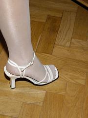 Nylon feet. Jenni tied bent over. - Unique Bondage - Pic 7