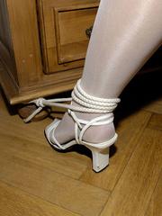 Nylon feet. Jenni tied bent over. - Unique Bondage - Pic 17