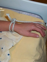 Nylon porno. Linda tied naked fully spread. - Unique Bondage - Pic 2