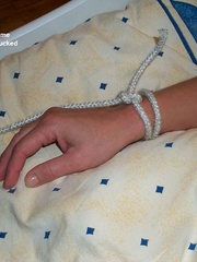 Nylon porno. Linda tied naked fully spread. - Unique Bondage - Pic 6