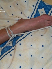 Nylon porno. Linda tied naked fully spread. - Unique Bondage - Pic 16